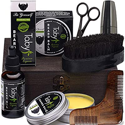 Beard Care Kit, Grooming & Trimming Gift Set for Men