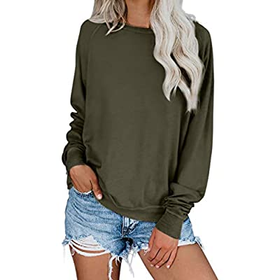 Women's Ombre Tie Dye Crewneck Long Sleeve Sweatshirt
